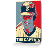 Derek Jeter The Captain OB Greeting Card