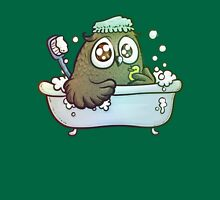 owl having a bath Womens Fitted T-Shirt