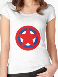 Soviet Air Forces Roundel Women's Fitted Scoop T-Shirt
