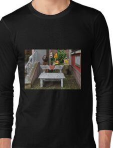 The Bench with Winged Heart Long Sleeve T-Shirt