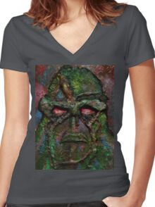 Swamp Monster Original Women's Fitted V-Neck T-Shirt
