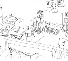Messy Desk by mogas