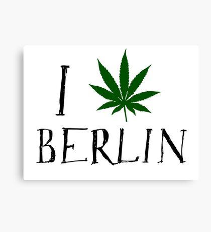 Love Berlin Weed T-Shirt Canvas Print