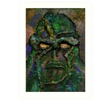 Swamp Monster Green Art Print
