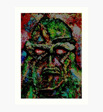 Swamp Monster Comic Art Print