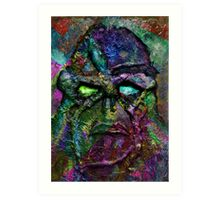 Swamp Monster Mix 3 Art Print