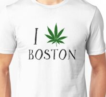 I Love Boston Weed T-Shirt Unisex T-Shirt