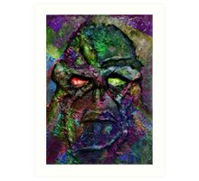 Swamp Monster Mix 2 Art Print