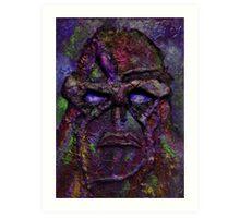 Swamp Monster Red Art Print