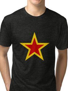 Soviet Air Force Fighter Star (1941-1945) Tri-blend T-Shirt