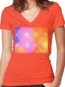 Solar Balloons Women's Fitted V-Neck T-Shirt