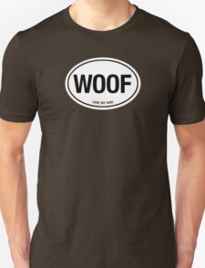 WOOF - LOVE MY DOG EURO STICKER T-Shirt