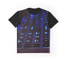 Laptop Blue lights Keyboard Graphic T-Shirt
