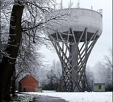 Water Tower, Cockfosters, London - Percey & Milne, 1968 by compoundeye