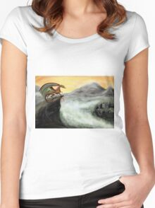 """Guardian of the Valley"" - Digital painting Women's Fitted Scoop T-Shirt"