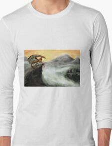 """""""Guardian of the Valley"""" - Digital painting Long Sleeve T-Shirt"""
