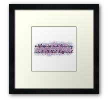 Divergent Framed Print