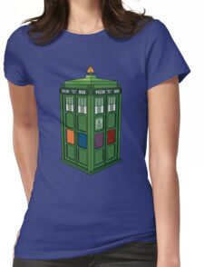 Teenage Mutant Ninja TARDIS (T.M.N.T.A.R.D.I.S.) Womens Fitted T-Shirt