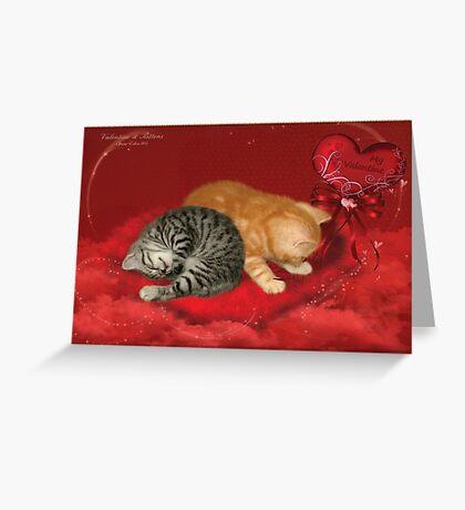 Valentine & Kittens Greeting Card
