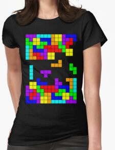 Tetris Making Tetris Fall Womens Fitted T-Shirt