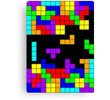 Tetris Making Tetris Fall Canvas Print