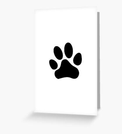 Paw Print Greeting Card