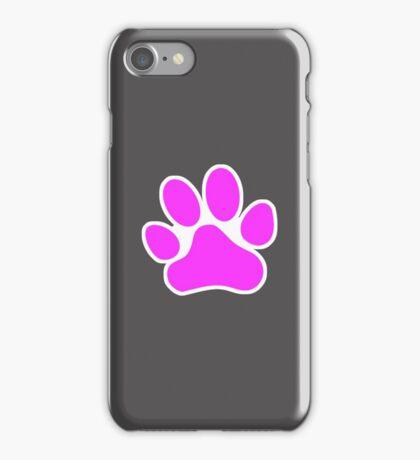 Pink Paw Print iPhone Case/Skin