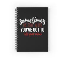 TØP Migraine Lyrics ( transparent ) Spiral Notebook