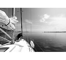 Getting Ready to Sail Photographic Print