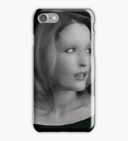 Gillian Anderson - Oil Painting iPhone Case/Skin