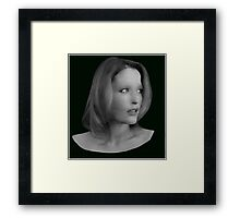 Gillian Anderson - Oil Painting Framed Print