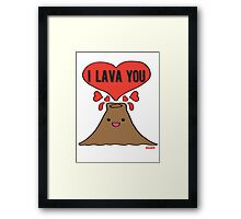 Lava Love Framed Print