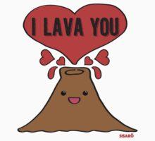 Lava Love One Piece - Short Sleeve