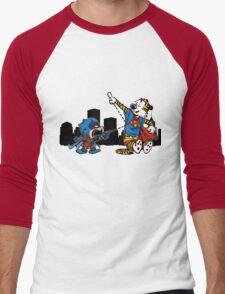 Batmin v Superhob Men's Baseball ¾ T-Shirt