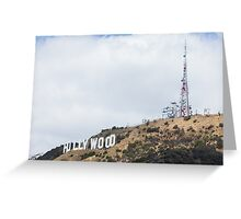 Hollywood Sign and Tower Greeting Card