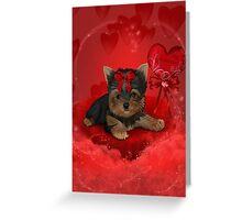My Valentine Yorkshire Terrier Greeting Card