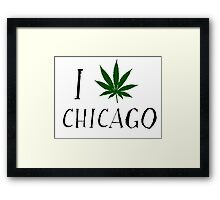 I Love Chicago Weed T-Shirts Framed Print