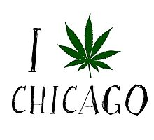 I Love Chicago Weed T-Shirts Photographic Print