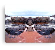 Reflection of Short Rock Canvas Print