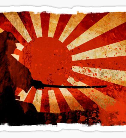 Samurai Sun Sticker