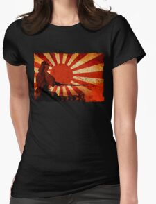 Samurai Sun Womens Fitted T-Shirt