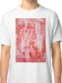 Red and White Drips Classic T-Shirt
