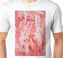 Red and White Drips Unisex T-Shirt