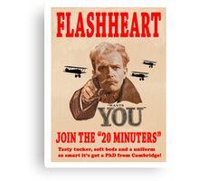 FLASHHEART WANTS YOU Canvas Print