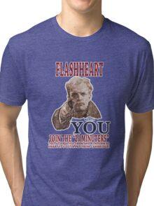 FLASH HEART WANTS YOU (2) Tri-blend T-Shirt