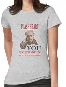 FLASH HEART WANTS YOU (2) Womens Fitted T-Shirt