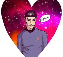 Spock <3 Kirk by vennh