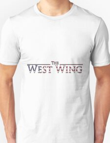 The West Wing Logo with American Flag Design T-Shirt