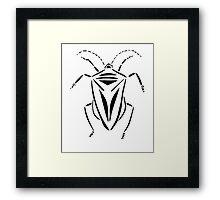 Stink bug stencil Framed Print