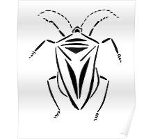 Stink bug stencil Poster